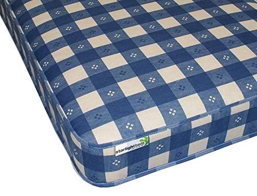 Starlight Beds - 3ft Single Foam Mattress. 6 Inch Reflex Foam Mattress with Check Material. 3ft x 6ft3 (90cm x 190cm)