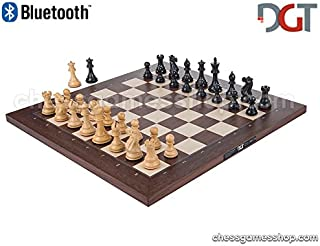 DGT BLUETOOTH Rosewood e-Board with EBONY pieces - Electronic chess - chessgamesshop_com