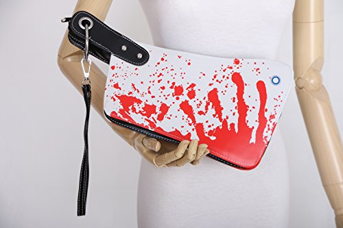 Kawaii-Story LB-22 Messer Blut Optik Halloween PU Crazy Japan Harajuku Trend Tasche Clutch