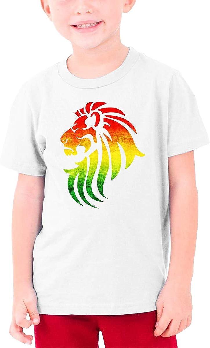 Rasta Lion Youth T-Shirt Short Sleeve Top Boys&Girls Tee