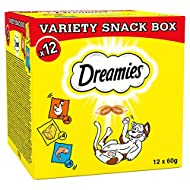 Dreamies Cat Treat for Cats Variety Pack 12x 60g