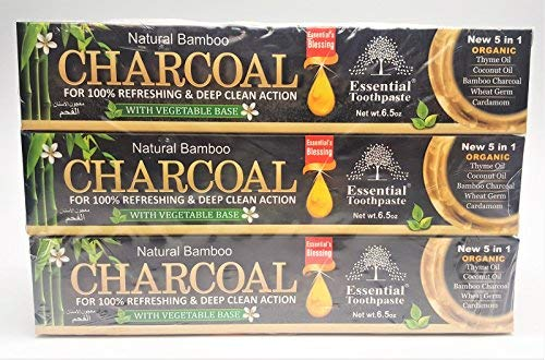 Organic Bamboo Charcoal Toothpaste 100% Natural Teeth...