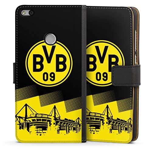 Sideflip compatibel met Huawei P8 Lite 2017 Bookcase Flipcase BVB Borussia Dortmund Stadion