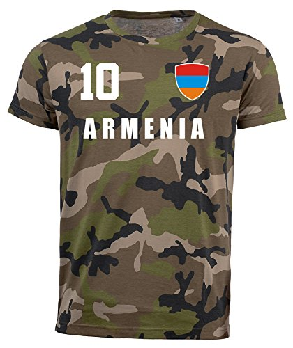 aprom Armenien Camouflage T-Shirt - All-10 - Trikot Army Look WM World Cup Armenia (M)