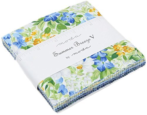 MODA Summer Breeze V Charm Pack By 42-5 inch Precut Fabric Quilt Squares