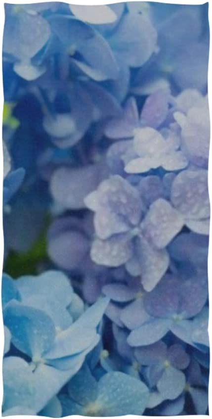 Amazon Com Chnegyx Hand Towels 30x15in Blue Hydrangea Macrophylla Hortensia Flower Dew Swimming Thin Bathroom Towel Print Soft Highly Absorbent Small Bath Towel For Bathroom Hotel Gym And Spa Home Kitchen