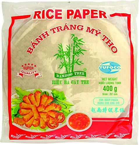 Bamboo Tree, Carta di Riso Vietnamita per Involtini Primavera, Specialmente per Friggere - 22 cm, 400g