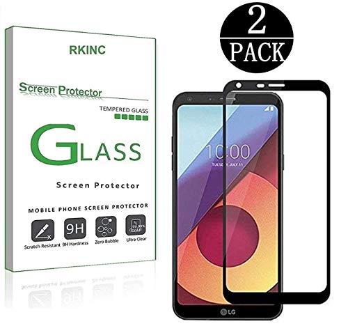 RKINC Protector de Pantalla para LG Q6, G6 Mini, Q6 Plus, [2 Pack] Pantalla Completa Cobertura Cristal…