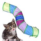 heling896 Rainbow Cat Tunnel Tierspielzeug Katzenzelt Spielhaus Faltbarer Katzenkanal, großes...