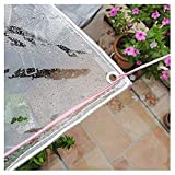 ZHANGQINGXIU Lonas Impermeables Exterior,Lona Transparente, Resistente 100% UV E Impermeable Lámina De Lona De PVC, Para Plantas Al Aire Libre Resistente A La Lluvia, (400 G / M2) Cubierta De PVC Para
