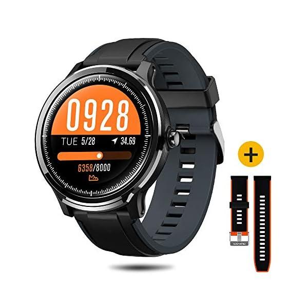NACATIN SmartWatch, Reloj Inteligente Impermeable IP68, Bluetooth Relojes Deportivos Pantalla t¨¢ctil Completa, Pulsera… 4