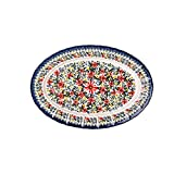 WLGQ Juego de 2 Platos para Servir Alimentos de cerámica esmaltada Mate con Mango de Aspecto de sartén Plato para Hornear Platos de Cena de 5', Color Pulido