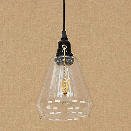 AI LI WEI mooie lampen/Zipper glazen schakelaar industriële hanger Retro E27 hanglamp hanglamp hanglamp hanglamp Annata Singola hanglamp huis verlichting