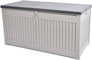 XLLLL Arcon Exterior Impermeable Caseta Depuradora Piscina Banco LeñEro 270L Caja De PláStico De Almacenamiento De Cojines De Interior Y Exterior/Contenedor De JardíN para Asientos