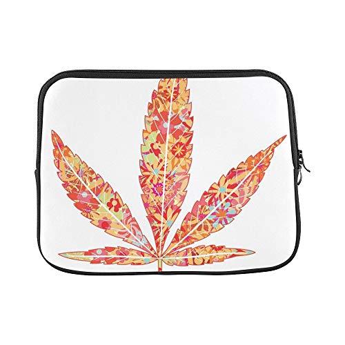 JOCHUAN Design Benutzerdefinierte Helle Blumen Marihuana Blatt Hülse Weiche Laptop Tasche Tasche Haut Für MacBook Air 11