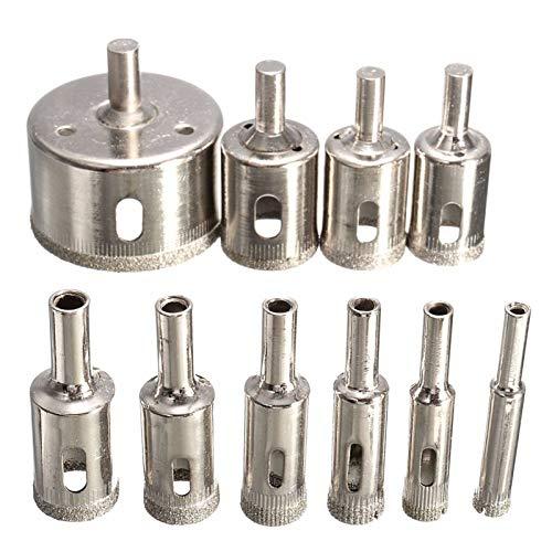 Shenyitool 10PCS / set 8-50mm Diamant beschichtete Kern Lochsäge Bohrer Werkzeug Cutter for Fliesen Marmor Glas Granit Werkzeug