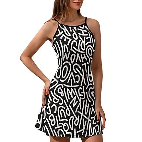 Summmer Cami Abito Lettera Super Soft -Lettera Moda Beachwear bianco XXL