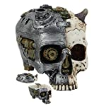 ATL Steampunk Demon Cyborg GEARWORK Painted Skull Jewelry Box Ashtray Sculpture 6