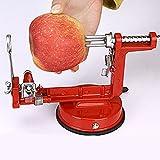 HTYX Quick Peeling Elderly Fruit Knife Multifunction Fruit Apple Peeling Machine Family Kitchen Hospital Mechanical Peeler Red