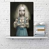 ZHJJD Muñeca Barbie Lienzo póster Dibujos Animados Cuadro de Arte de Pared Impresiones de Anime nórdico para niñas Modernas Sala de Estar hogar decoración de otoño Pintura 60x80cm sin Marco