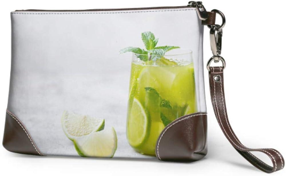 Wristlet Handbag Matcha Iced Spring new work Green Super Special SALE held Wristl Leather Fresh Lime Tea