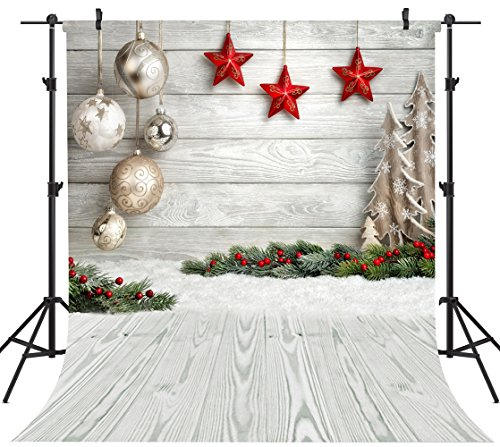 Christmas 15x10 FT Vinyl Backdrop PhotographersXmas Stars Backdrop with Vibrant Fractal Little Squares Abstract Artistic Design Background for Baby Birthday Party Wedding Graduation Home Decoration