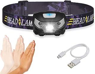 Hoofd Torch, ccbetter LED USB Koplamp Running Head Torches Oplaadbare Koplampen, Camping voor Lezen Vissen Runners Sport W...