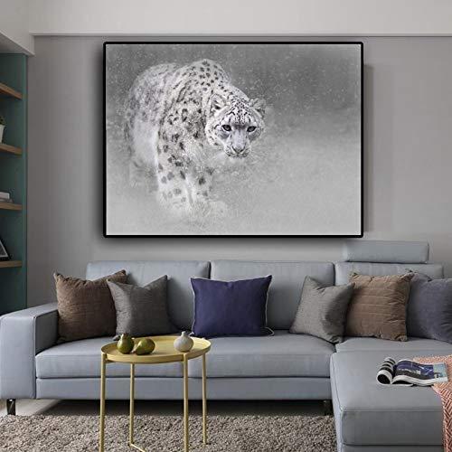 yaoxingfu Kein Rahmen Poster Leopard Tierbilder Cuadros Quadro Leinwand ng Wandkunst Für Wohnzimmer Poster Und Drucke Kein Rahmen 50x70 cm