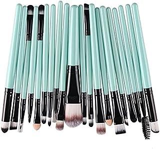 Kolight 20pcs Cosmetic Makeup Brushes Set Eyeshadow Lip Brush for Beautiful Female (Green+Black)