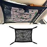 Car Ceiling Cargo Net Pocket, Car Camping Storage Tent, Large Capacity, Double-Layer Mesh, Automotive Interior Accessories (35.4'x25.6')