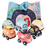 Toy Pull Back Cars, Baby Toy Push Car Toddlers Toy Set 6 Cars with Play Mat Storage Bag, 1 Year Old...