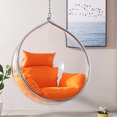 SMGPYHWYP Bubble Balcony - Silla Transparente, Silla Colgante, Cesta giratoria de acrílico para Adultos, Exterior