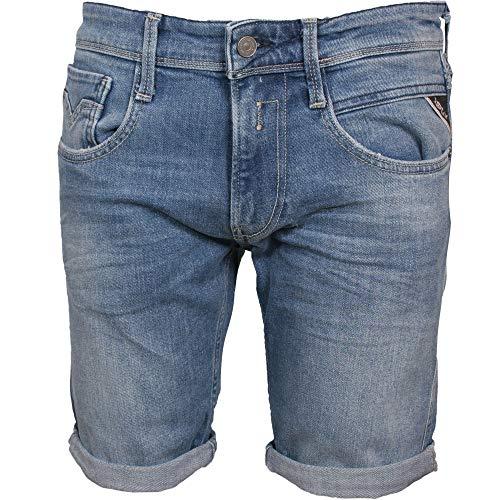 Preisvergleich Produktbild Replay Herren Slim-fit Anbass Shorts Denim,  mittelblau Gr. S,  mittelblau