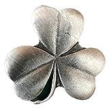 Emblems-gifts Trifoglio Irlandese Spilla Fatto Artigianalmente da Peltro Inglese(BR1510)+59mm Spilla