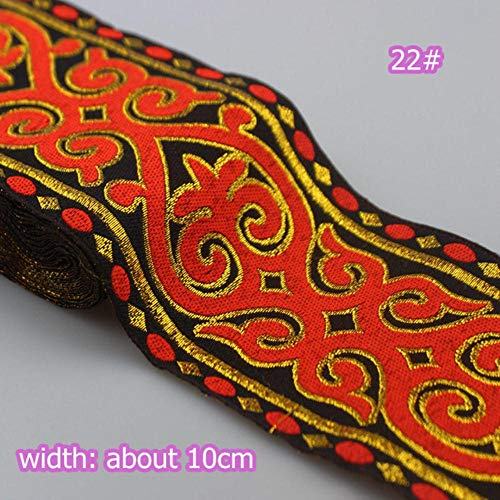 5 meter/stuk 10cm breed Afrikaanse kant stof trouwjurk lint geborduurd kant podium kostuum accessoires kant versieringen lint kant, item 22 - breedte 10cm, 2 meter prijs
