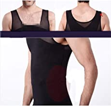 Mens Gynecomastia Vest Borst Binder Posture Corset Man Buik Trainer buik Reduce Fat Slim Body Shaper Back Cross Tops (Colo...