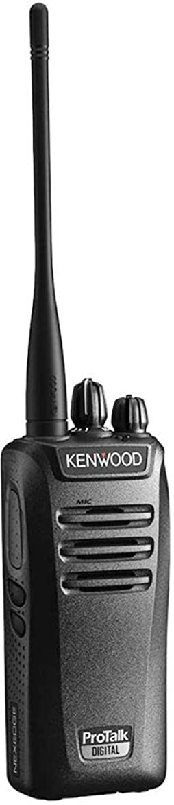 Kenwood NX-240V16P ProTalk Compact VHF 16 Channels Digital and Analog Two-way Radio, 5 Watts Transmit Power, 27 (151-159 MHz) Pre-set Frequencies, Switchable Digital and Analog Dual Modes