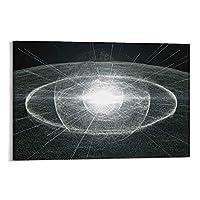 宇宙ポスター光子放出パターン キャンバス アートパネル ポスター 壁アート モダン リビング ベッドルーム 部屋飾り 油彩画24×36inch(60×90cm)