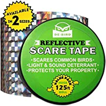 Bird Repellent Scare Tape - Keep Away Pigeons, Ducks, Crows and More - Deterrent Works with Netting And Spikes (125)