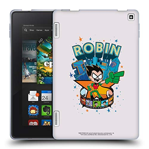 Official Teen Titans Go! To The Movies Robin Hollywood Graphics Soft Gel Case Compatible for Amazon Fire HD 7