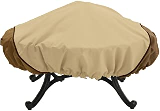 Classic Accessories Veranda 60 in. Round Large Fire Pit Cover - Pebble