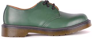 Dr. Martens Women's MCBI35261 Green Leather Lace-Up Shoes