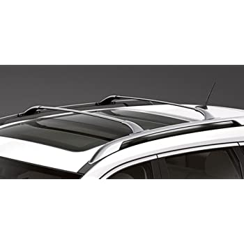 MotorFansClub Silver Alloy Top Roof Cargo Carrier Bars Side Rails Luggage Rack For Nissan Rogue X-Trail 14-16