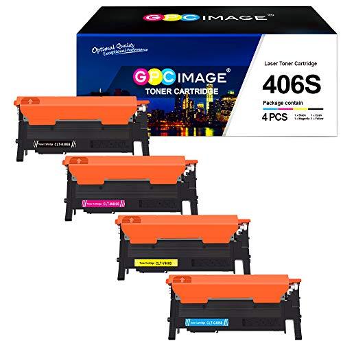GPC Image Kompatibel Toner CLT-P406C 406S für Samsung CLT-K406S C406S Y406S M406S für Samsung Xpress CLP-360 360N CLP-365 365W, CLX-3300 CLX-3305 3305FN 3305FW 3305W, C410W C460 C460FW C460W (4-Pack)