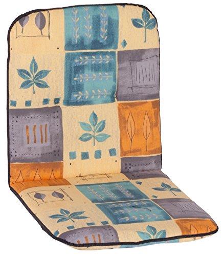 Beo Auflage für Niederlehner Gartenmöbel Polsterauflage Patchwork Blätter blau beige