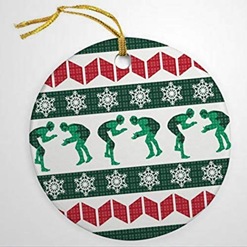 BYRON HOYLE Ugly Christmas Sweater Ornament Wrestling Ornaments Christmas Ornaments Pandemic Xmas Decor Holiday present