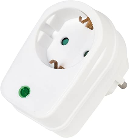 Adaptador de Enchufe Europeo A3 Color Blanco Interruptor 3 enchufes Blanco Vivanco