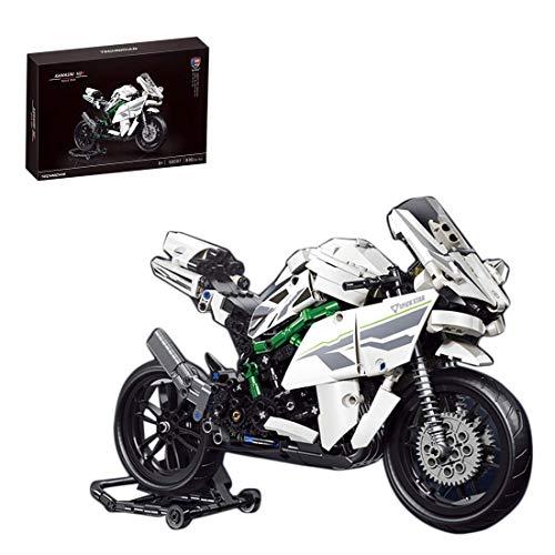 CYGG Moto para Kawasaki Ninja H2, Modelo de exhibición de Superbike de colección, Conjunto de Edificios, 800 Bloques - Compatible con Lego
