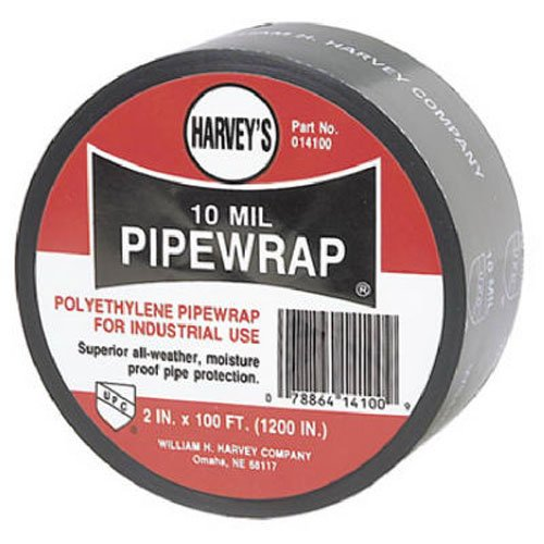 Harvey 14100 Poly Pipe Wrap, 2-Inch by 100-foot, Black
