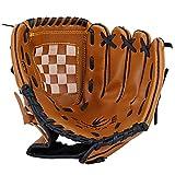 ADiPROD PU Leather Left Hand Baseball Glove, Medium (11.5) - Brown